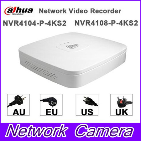 EMS DHL Fast Shipping DaHua English Firmware DH-NVR4104-P-4KS2 4 Channel inputs NVR HD 1080P with 4 PoE Ports dhl ems 4 sets p f obt200 18gm60 e4