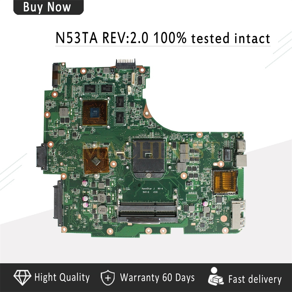 N53TA Motherboard REV:2.0  For ASUS N53TA N53TK N53T Laptop motherboard N53TA Mainboard N53TA Motherboard test 100% OKN53TA Motherboard REV:2.0  For ASUS N53TA N53TK N53T Laptop motherboard N53TA Mainboard N53TA Motherboard test 100% OK