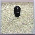SS6 5000 unids/pack Jalea Blanco AB rhinestone de la resina Para DIY Nail Art Gemas de la decoración