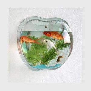 Высококачественная акриловая чаша для рыб, настенное крепление, аквариум, аквариумный бак, водная посадка, цилиндрическая чашка, Хрустальн...