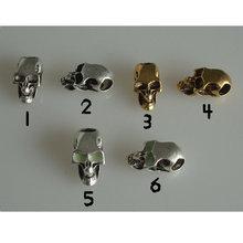 10 шт Очаровательные бусы металлический череп для 550 ремней