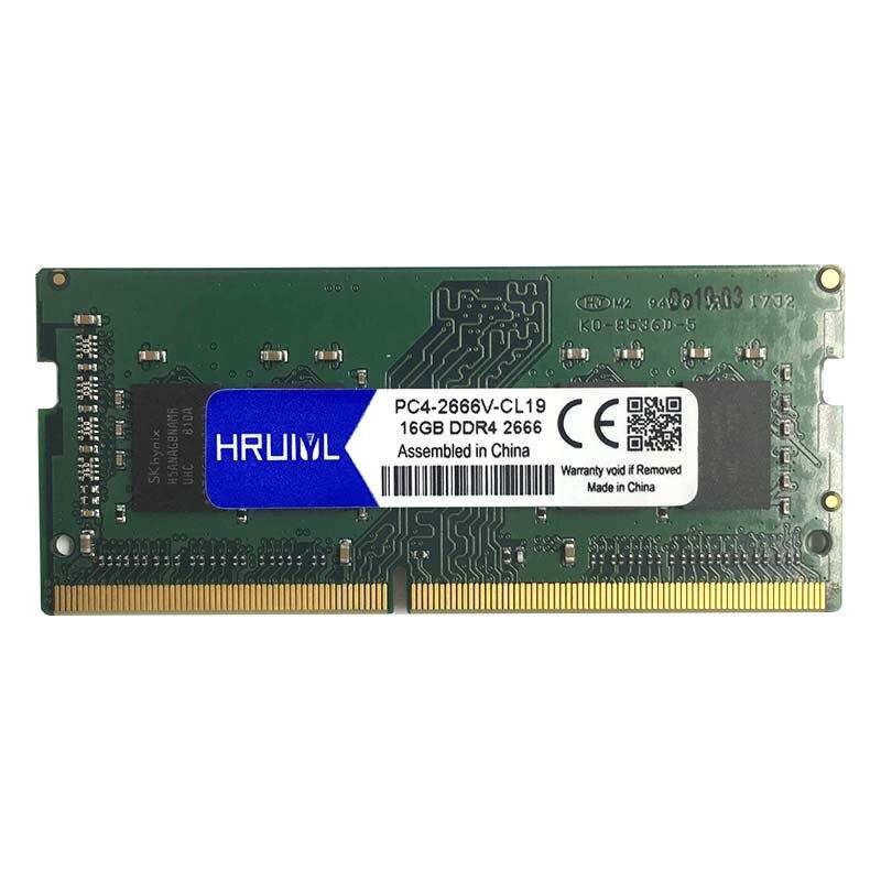 HRUIYL Laptop RAM Memory DDR4 With 4GB 8GB 16GB Memory Capacity 4