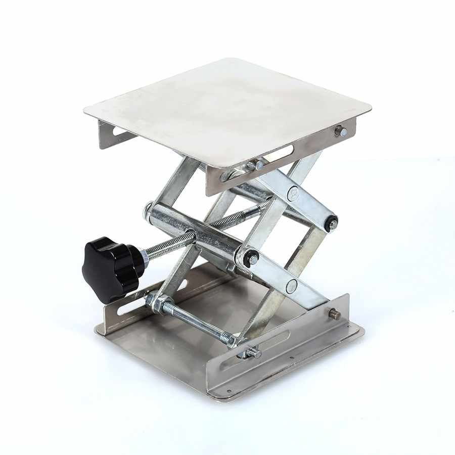 """Лидер продаж 4 """"х 4"""" 100 мм Нержавеющаясталь лаборатория стенд подъемная платформа Лаборатория Инструмент высокое качество"""
