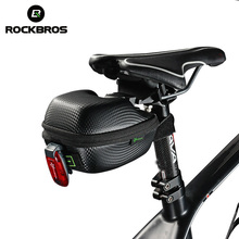 ROCKBROS Bike Bicycle Bag Waterproof Rear Saddle MTB Seatpost Tail Panniers PU Leather Cycling Accessories