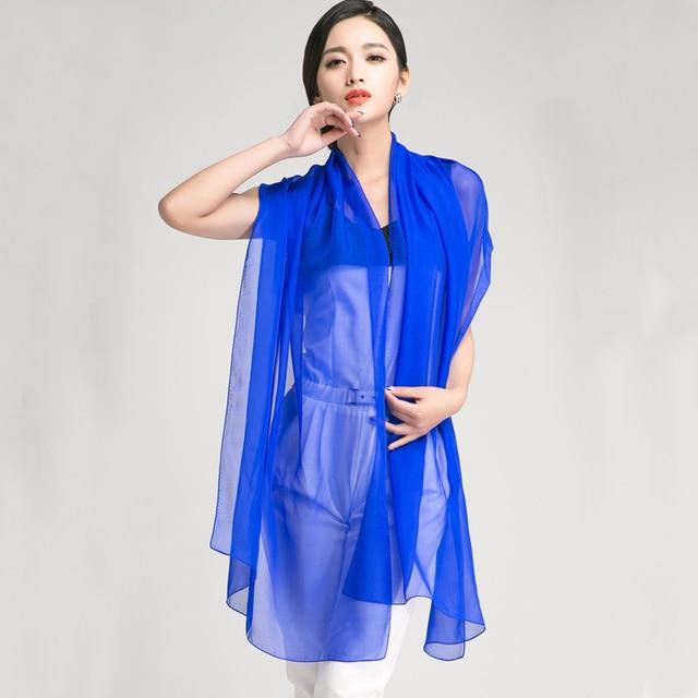 [LESIDA]  Summer Style Pure 100% Silk Scarf  Women,170*55CM Ladies Long Scarves,Beige Soft Beach Scarf Female Chiffon Shawl 2004