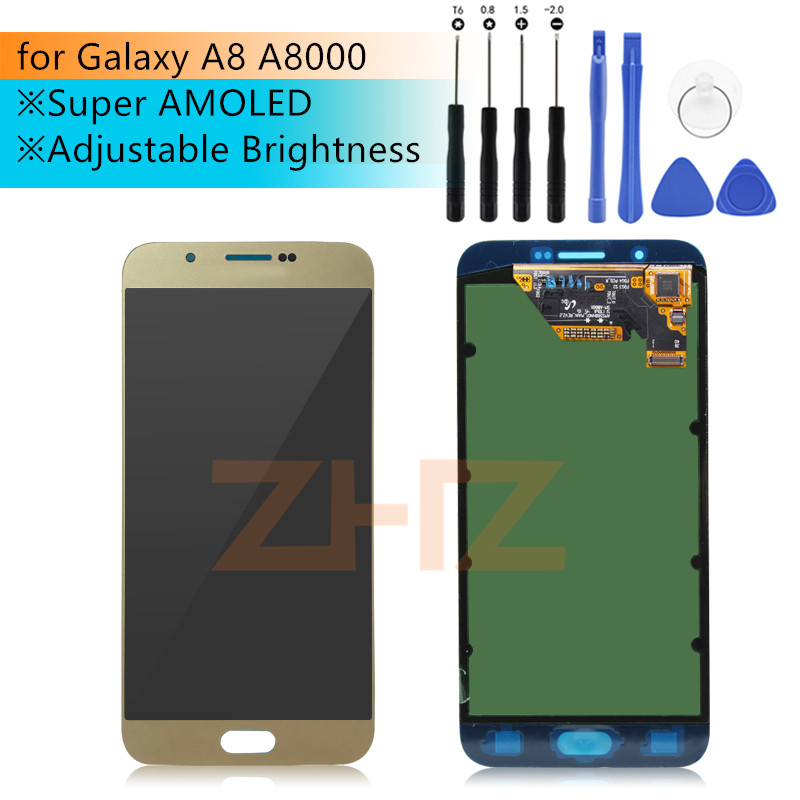 For SAMSUNG Galaxy A8 LCD Screen Display Touch Digitizer LCD Display Screen for Galaxy A8 A8000 A800 A800F Replacement Parts