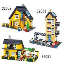 Wange garden city series Luxury Villa Model Town House building Block kits 3D blocks Educational bricks toys