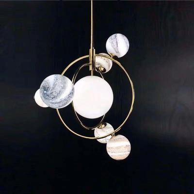 Işıklar ve Aydınlatma'ten Kolye ışıkları'de Aro Deco renkli cam avizeler nordic kapalı G9 LED blub lamba restoran yemek odası bar mağaza aydınlatma Fikstür AC110 265 title=