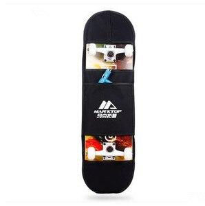 """Image 3 - Nuovo Nero di Skateboard Borsa Per Il Trasporto 4 Ruote di Skateboard Sacchetto di 31 """"x 8"""" di Skateboard Doppio Rocker Zaino"""