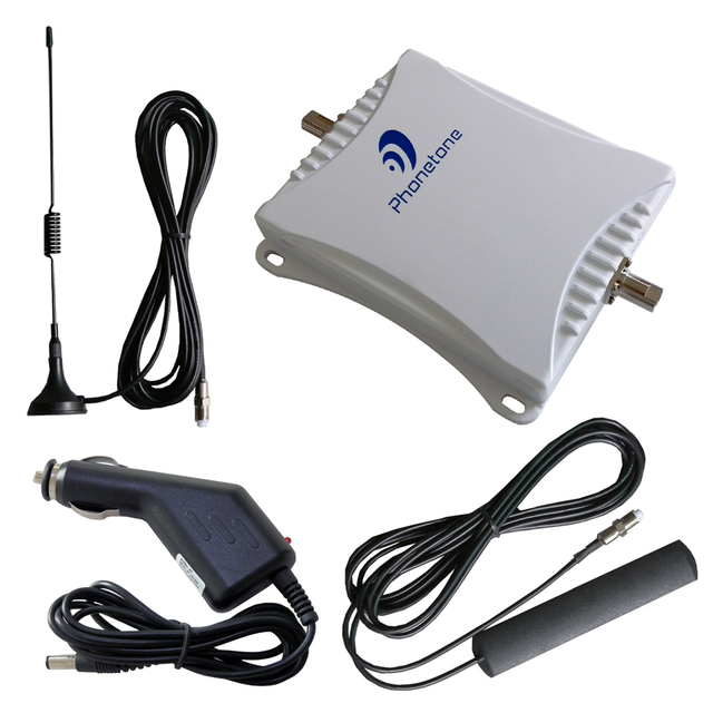 Mini 900 / 1800 MHz 45dB móvel carro de telefone celular reforço de sinal sem fio amplificador de potência repetidor extender kit para o uso do carro