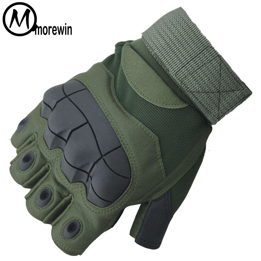 New Men Tactical Gloves Military Army Gloves Mens Driving Anti-Skid Mittens Rubber Half Finger Hard Knuckle Fingerless Mittens