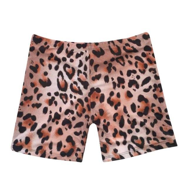 Womail Women shorts Fashion Leopard Print Sexy Swimwear Beachwear Siamese Swimsuit Shorts shorts Daily denim color dropship j24 2