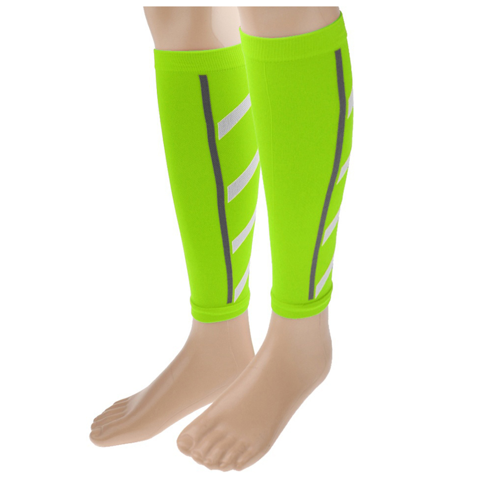 Wholesale! Unisex Running Athletics Compression Sleeves Calf Leg Brace Wrap Shin Splints Fluorescent green