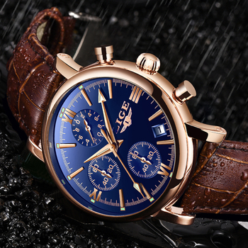 fashion creative men date alloy case synthetic leather analog quartz sport watch male clock top brand luxury relogio masculino 2019 LIGE Business Leather Fashion Waterproof Quartz Watch For Mens Watches Top Brand Luxury Male Date Clock Relogio Masculino