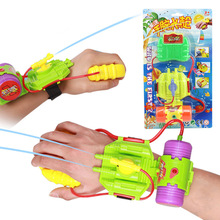 1 box ABS Wrist Spider man Water Gun Sprinkling Pistol Shooter for Swimming bath Pool and Beach outdoor fun sports toys