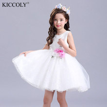 Hot Sale Kids Infant Girl Flower Dress Children Princess Lace Dress Wedding Bridal Tulle Formal Teenage Girl Party Dress