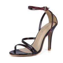 CHMILE CHAU Party Sandals Women Stiletto High Heel Zapatos Para Mujer Sandalias de Tacon Alto Aguja Vestido Fiesta 5186-9m