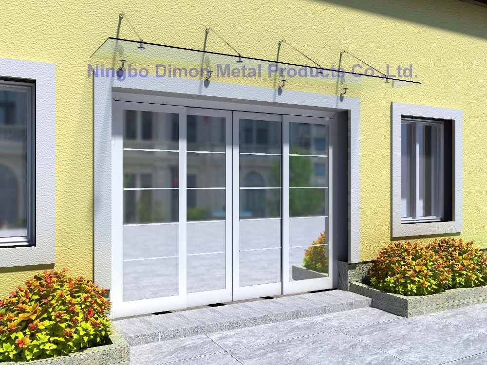 Dimon high quantity glass canopy SS304 / door awning bracket SS304 bracket door awning bracket glass canopy fittings DM-YP 001-4 цена 2017