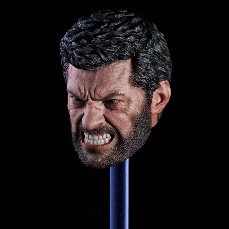 1/6 Logan Wolverine Head Sculpt Angry Version for 12''Male Bodies цена