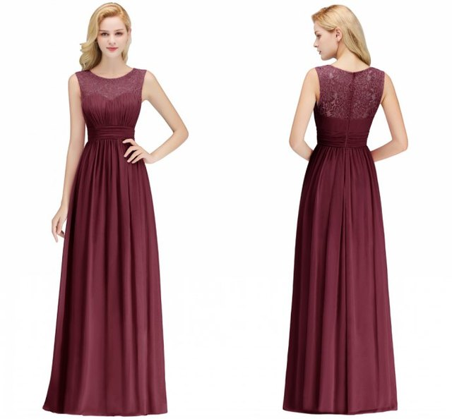 0e5dfd15cc US $36.99 42% OFF|5 Style Pink Burgundy Chiffon Long Evening Dress 2019  Sexy A Line Elegant Wedding Party Formal Gowns Long Vestido do festa  Longo-in ...