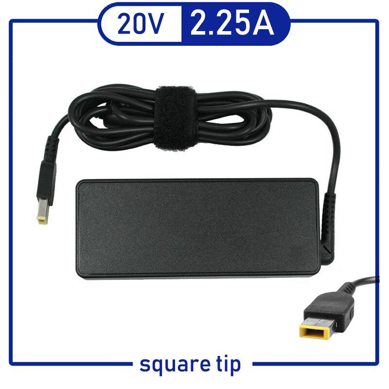 20 V 2.25A 45 W Ordinateur Portable Ac Adaptateur Chargeur pour Lenovo Thinkpad ADLX45NLC3 ADLX45NDC3A ADLX45NCC3A 0C19880 59370508 ADLX45NLC3A