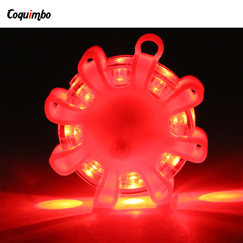 Coquimbo LED Flare Emergency Road Flare LED Safety Flare Roadside Flashing Road Beacon With Magnetic Base For Car Flashlight