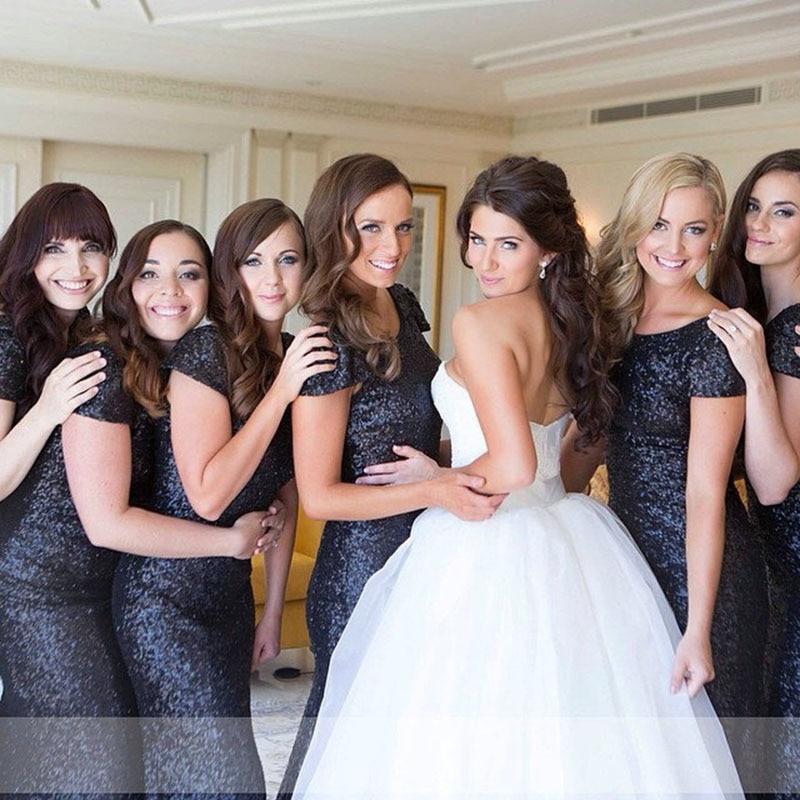 Dark Navy Bridesmaid Dresses