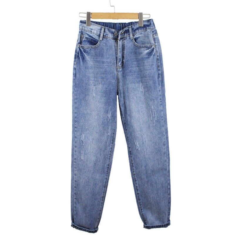 Lguc.H Vintage   Jeans   Woman Big Size Classic Boyfriend   Jeans   Women Large Size Loose Trousers Female Plus Size Pants Blue 4xl 5xl