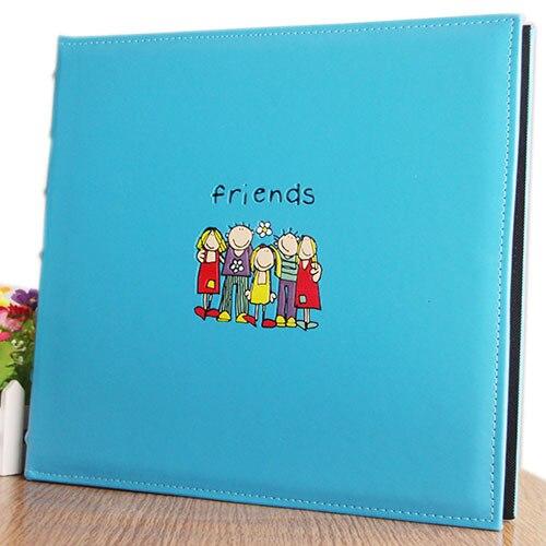 Foto Qlbum para 600 fotos capacidad Vintage PU cuero familia Foto álbum grande boda/graduación/niño montaje álbumes de fotos