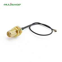 лучшая цена ALLiSHOP 0-3Ghz Wifi router Wireless  phone wireless  AP Extension pigtail SMA socket jack to U.FL IPX connector 1.13 cable