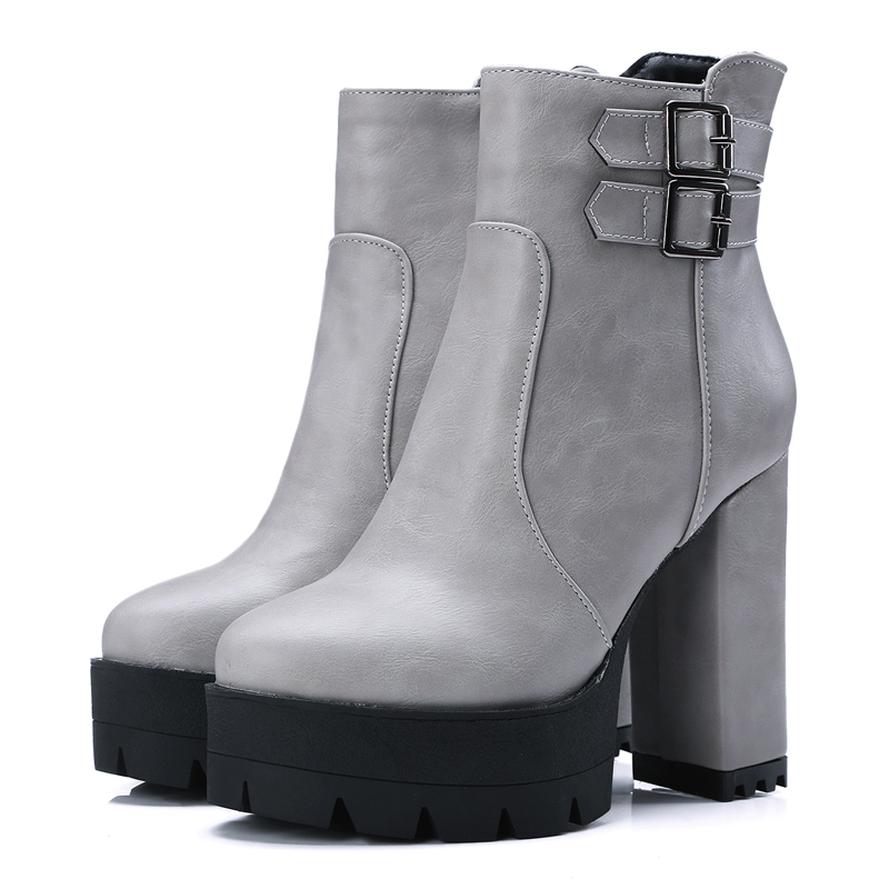 european style comfortable toe ankle boots