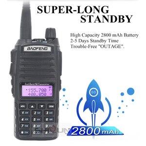 Image 4 - Agrandir 3800mAh UV 82 8W Baofeng UV 82 Talkie walkie 10 KM Baofeng 8W Radio Double PTT UV XR UV 9R GT 3TP Jambon Radio 10 KM UV 5R 8W