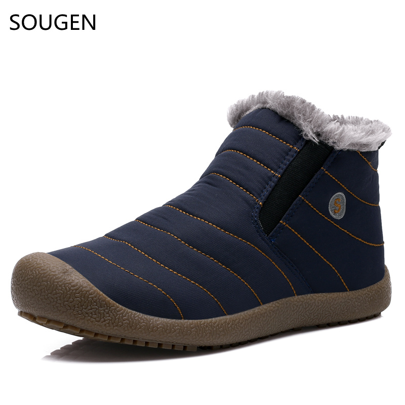 New Winter Boots Men Plush Felt Genuine Suede Chelsea Waterproof Comfortable Cowboy Ankle Big Size Timber Leather Shoes 2016 felt boots