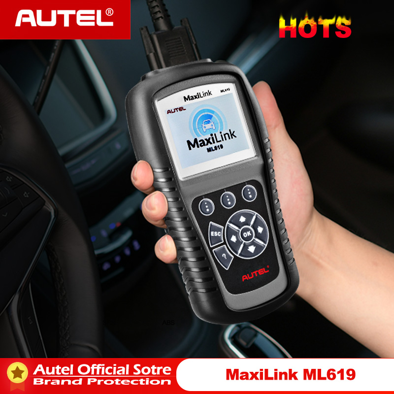 Autel MaxiLink ML619 ABS SRS Diagnostics Scanner OBD2 Code Reader Diagnostic Scan Tool OBD Autoscanner Auto Airbag Diagnosis-in Code Readers & Scan Tools from Automobiles & Motorcycles
