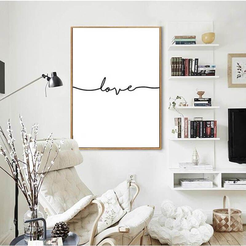 Buy nordic poster black letter cuadros decoracion wall art canvas painting - Poster decoracion ...