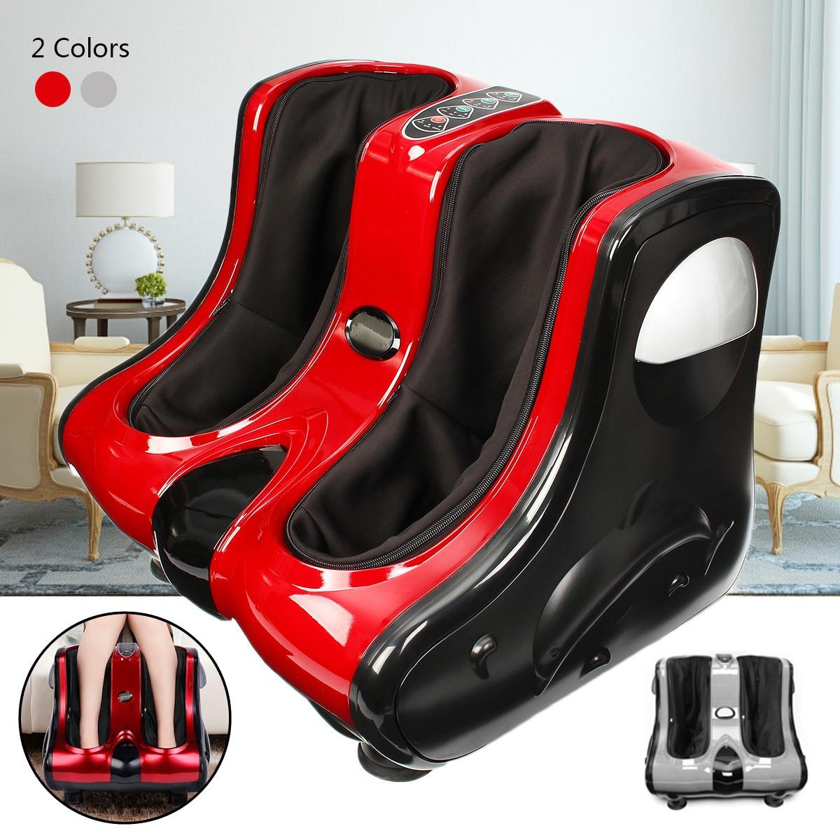 220 v Shiatsu Piede Polpaccio Della Gamba Caviglia Massaggiatore Riscaldamento Impastare di Rotolamento Macchina di Vibrazione 3 Modalità di Staccabile In Tessuto All-dimensionale