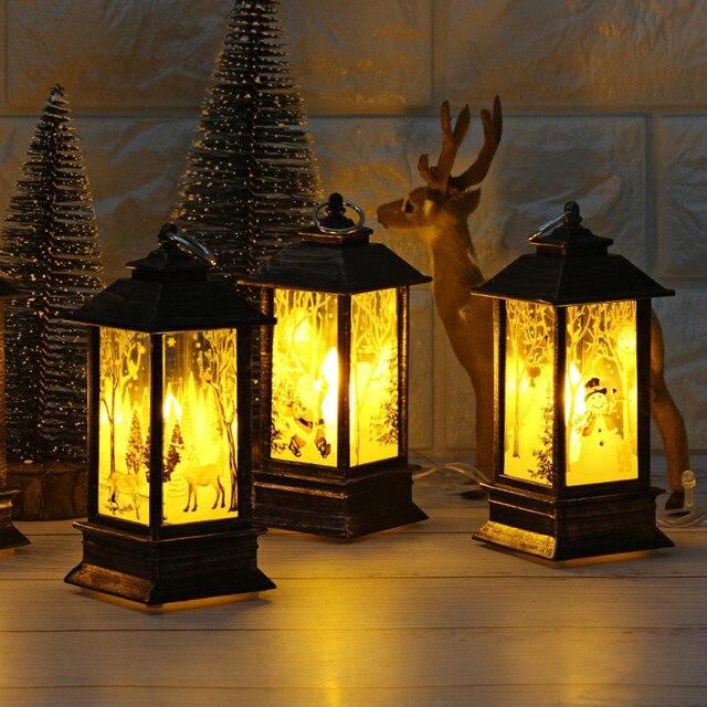 Casa Di Babbo Natale Candela.2018 Nuovo Anno Di Natale Di Natale Babbo Natale Deer Antivento Led