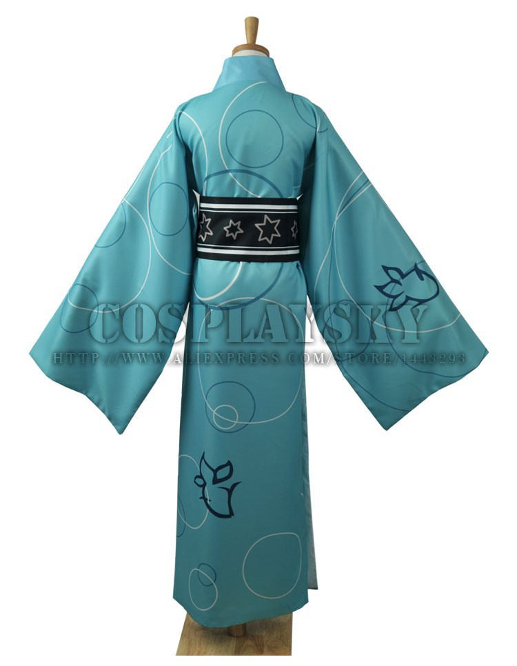 Vocaloid Hatsune Miku Project DIVA Yukata Kimono Kaito Cosplay Costume_03