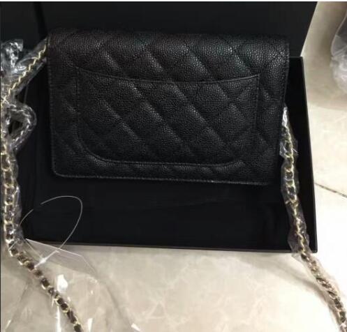 classic women fashion top quality brand caviar woc bag genuine leather women handbag mini flap shoulder bag sac women caviar v shoulder bag genuine leather handbag luxury chain plaid 25cm flap bag fashion crossboday bag multicolor