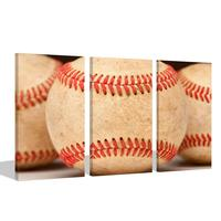 American Sports Poster Close Up of Aged Vintage Red Baseball Seams Canvas Wall Art Picture Prints Home Decor Drop shipping