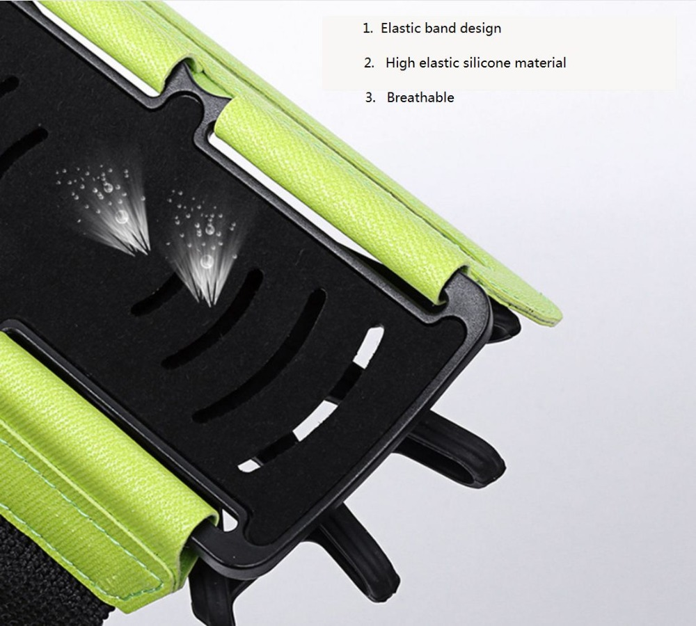 SzBlaZe Professional Rotatable Running Bag Wrist Band Arm cell phones Holder Sport pocket accessories For Gym Fitness Jogging 15