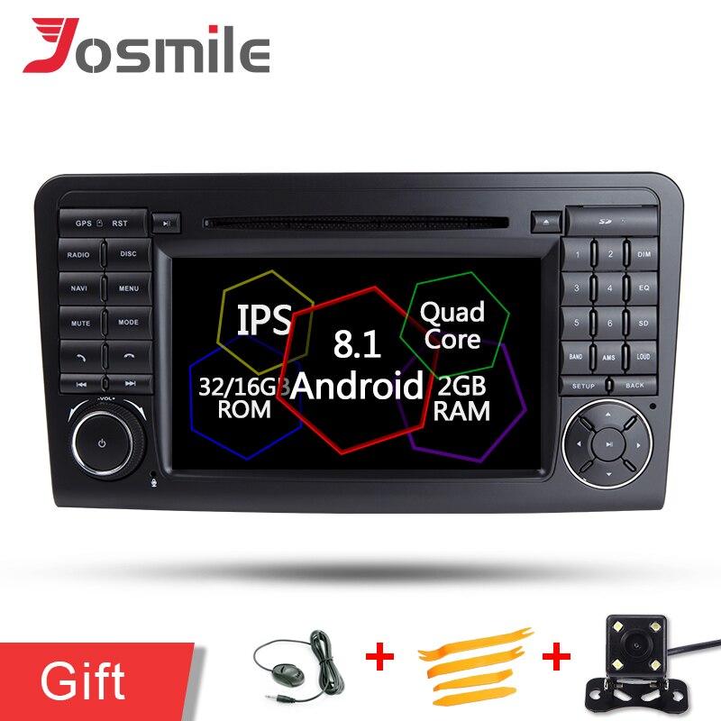 Android 8.1 WiFi GPS Navi Quad Core Multimédia Radio Lecteur DVD de Voiture Pour Mercedes Benz ML Classe W164 ML300 ML350 ML450 ML500 CFC