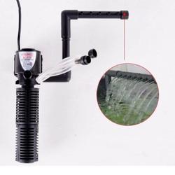 3 w 1 filtr pompy do akwarium wodospad Spray Bar pompa obiegu wody Powerhead 220V akwarium filtr do akwarium Mini pompa tlenu