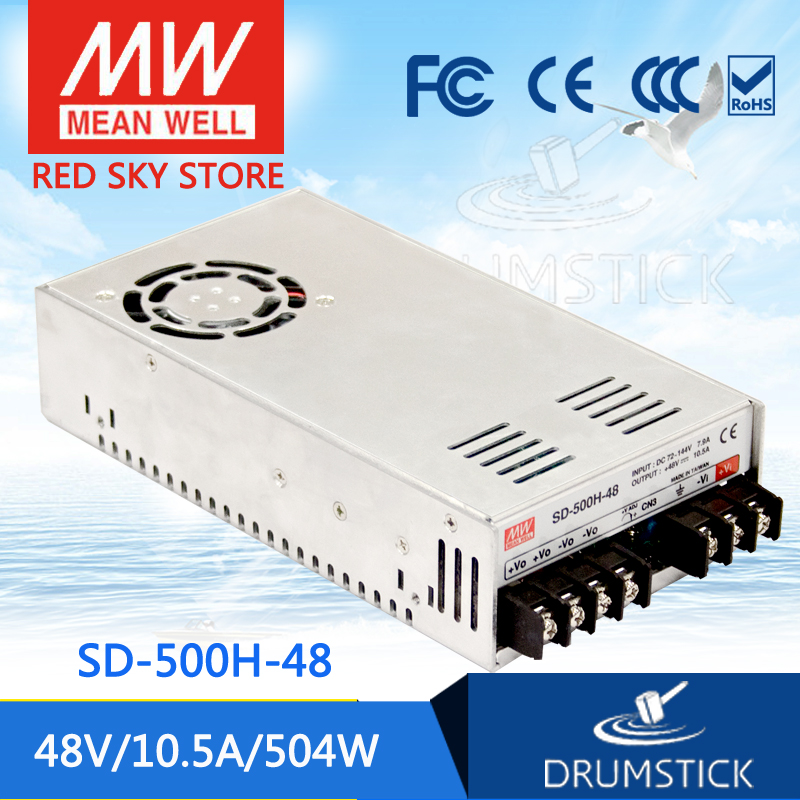 цена на hot-selling MEAN WELL SD-500H-48 48V 10.5A meanwell SD-500 48V 504W Single Output DC-DC Converter [Real7]