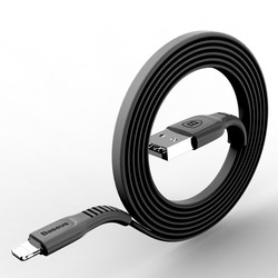 Baseus 평면 USB 케이블 X 8 7 6 6 초 플러스 5 5 초 아이 패드 빠른 충전 데이터 동기화 어댑터 충전기 조명 휴대 전화 케이블