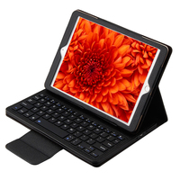 Ergonomics Portable PU Leather Detachable Slim Bluetooth Keyboard Case Stand For Apple IPad Air Air 2