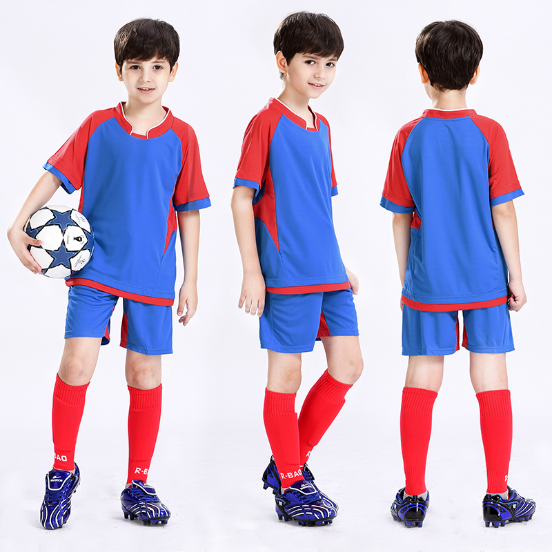 online store ee5a2 e09b4 US $31.5 |Children's Soccer Uniforms Boy and Girle Shirt Suit Breathable  Football Training Suit Team Uniforms Diy Shirt-in Soccer Sets from Sports &  ...