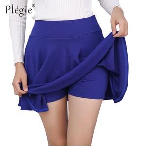 Image 3 - Plegie M 5XL Skirts Womens Plus Size Tutu School Short Skirt Pants Suitable For The Whole Year Mini Saia High Waist Faldas Mujer
