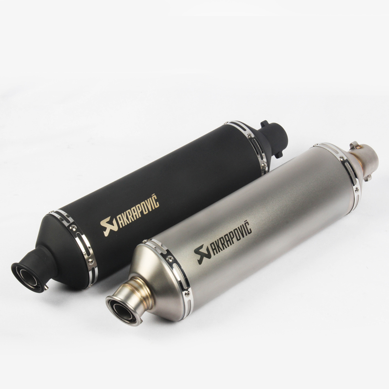 51mm escape moto db killer motorcycle dirt bike 560mm long akrapovic exhaust pipe laser motorbike muffler scooter accessories
