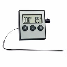 Household kitchen oven meat barbecue food thermometer, electronic digital alarm baking syrup thermometer